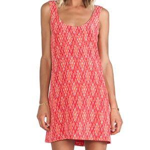 Joie Dawna Silk Tank Dress in Coral